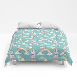 Unicorns + Rainbows Comforters
