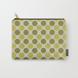 Vintage green circles retro pattern Carry-All Pouch