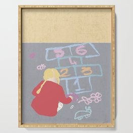 Hopscotch game's little creator Serving Tray