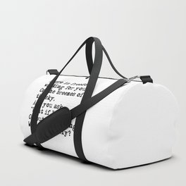 What if you fly? Vintage typewritten Duffle Bag