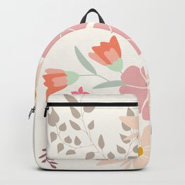 Spring flower bouquet Backpack