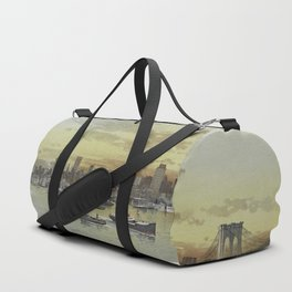 Vintage Pictorial View of NYC (1896) Duffle Bag
