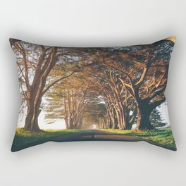 Sunrise at the Tree Tunnel - Point Reyes, California Rectangular Pillow