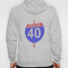 Interstate highway 40 road sign Hoody