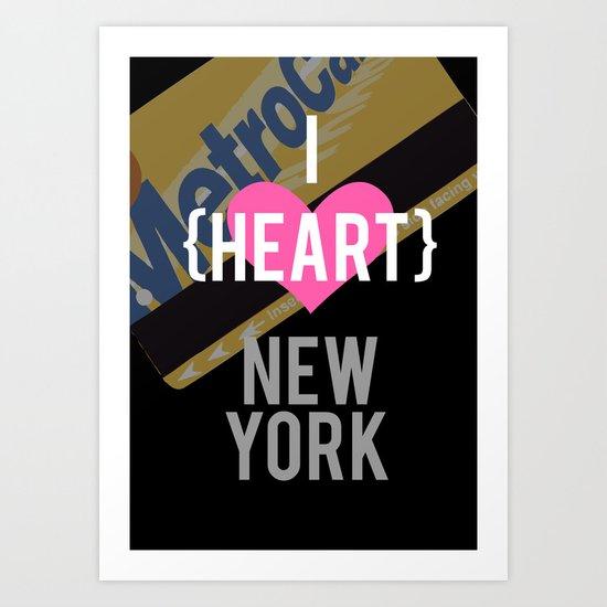 I Heart New York Art Print