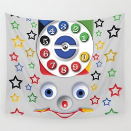 Classic Retro vintage Smiley Toys Dial Phone Wall Tapestry