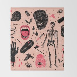 Whole Lotta Horror Throw Blanket