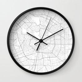 Milan, Italy Minimalist Map Wall Clock
