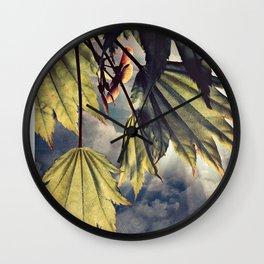 full moon maple sky Wall Clock