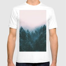Pastel woods White MEDIUM Mens Fitted Tee