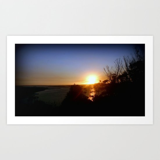 Dusk over Lakes Entrance Art Print