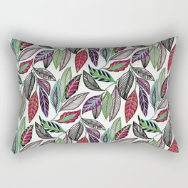 Colorful leaves pattern Rectangular Pillow