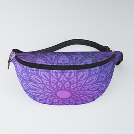 Dark Mandala on Purple, Pink and Navy Fanny Pack