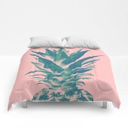 Blush Pineapple Dream #3 #tropical #fruit #decor #art #society6 Comforters