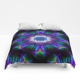 Neon Mandala 2 Comforters
