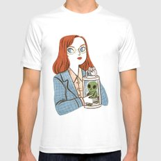 Dana Scully, Patron Saint of Nerds White Mens Fitted Tee MEDIUM