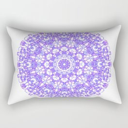 Mandala 12 / 1 eden spirit purple lilac white Rectangular Pillow