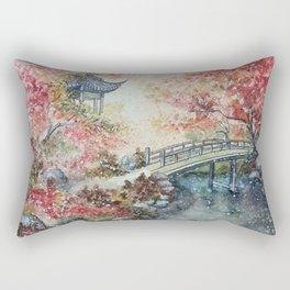 Autumn Morning (Watercolor painting) Rectangular Pillow