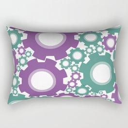 A Cog design in modern colours Rectangular Pillow