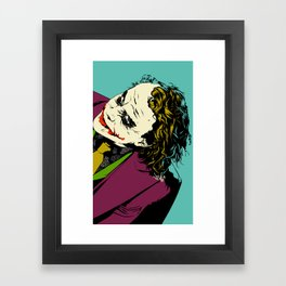 Joker So Serious Framed Art Print
