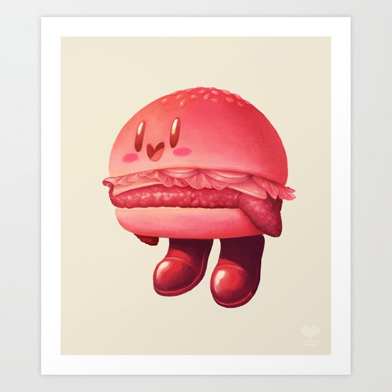 Kirby Patty Art Print