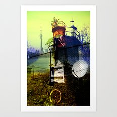Tommy thompson park lighthouse in Toronto collage Art Print