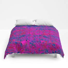 violet and blue trenches Comforters