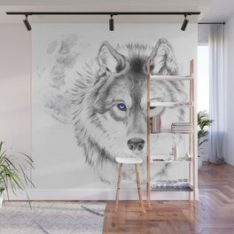 WOLF WHITE Wall Mural