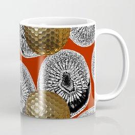 RED PATTERN GOLD GOLF BALLS Coffee Mug