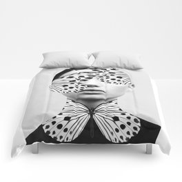Woman Butterfly Comforters