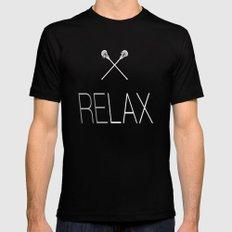 ReLax Lacrosse MEDIUM Black Mens Fitted Tee