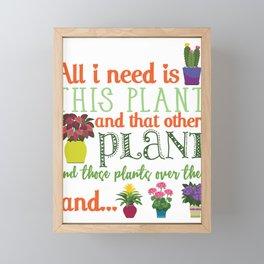 Humor Gardener Flower Plant Cactus Lovers Framed Mini Art Print