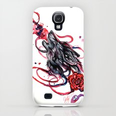 Howling Wolf and Rose Galaxy S4 Slim Case