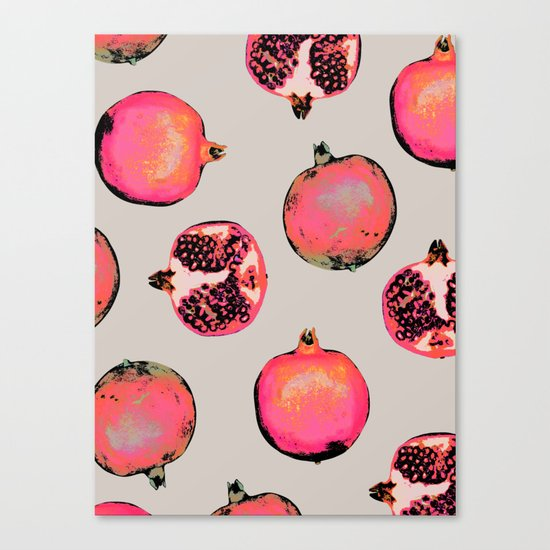 Pomegranate Pattern Canvas Print