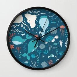Sea creatures 004 Wall Clock