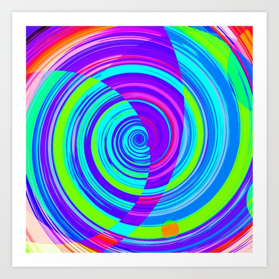 Re-Created Spiral Painting II by Robert S. Lee Art Print