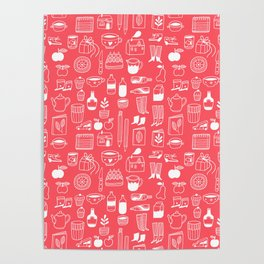 Pattern Project #8 / Things (red) Poster