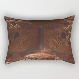 Fractal Terracota Rectangular Pillow