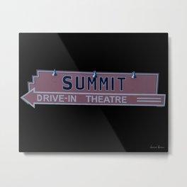 Summit Drive-In Theatre Metal Print