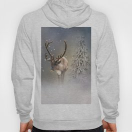 Santa Claus Reindeer in the snow Hoody