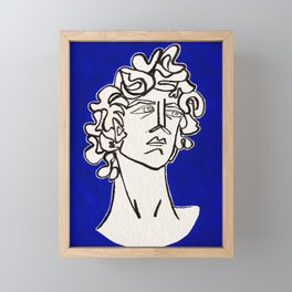 David Michelangelo statue Framed Mini Art Print