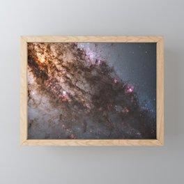 Firestorm of Star Birth in Galaxy Centaurus Framed Mini Art Print
