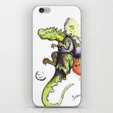 Dinosaur wearing Jetpack iPhone & iPod Skin