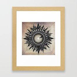Crow Twilight Dreamcatcher Framed Art Print