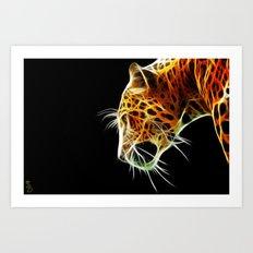 Fractal Leopard Art Print