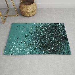 Teal Mermaid Ocean Glitter #3 #shiny #decor #art #society6 Rug