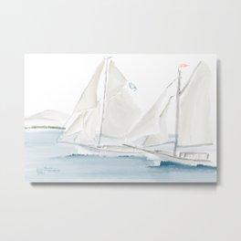 Salty Sails Regatta @ Frenchman's Bay Metal Print