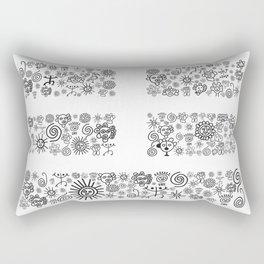 Mountain: Black and White Rectangular Pillow