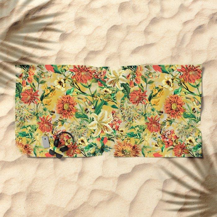 SUMMER GARDEN Beach Towel