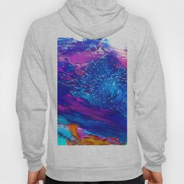 bright colors, brush painting on the glass Hoody